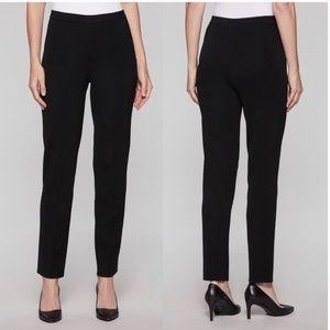 Ming Wang Black Acrylic Knit Trouser Pull on Pant